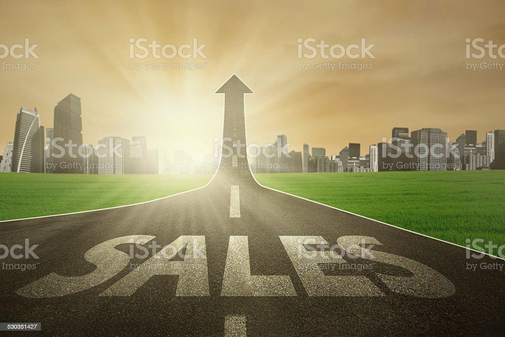 The way to improve sales stock photo