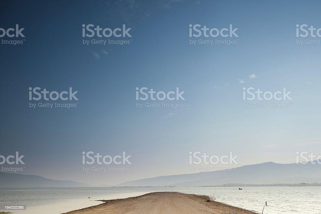 The way to lake royalty-free stock photo