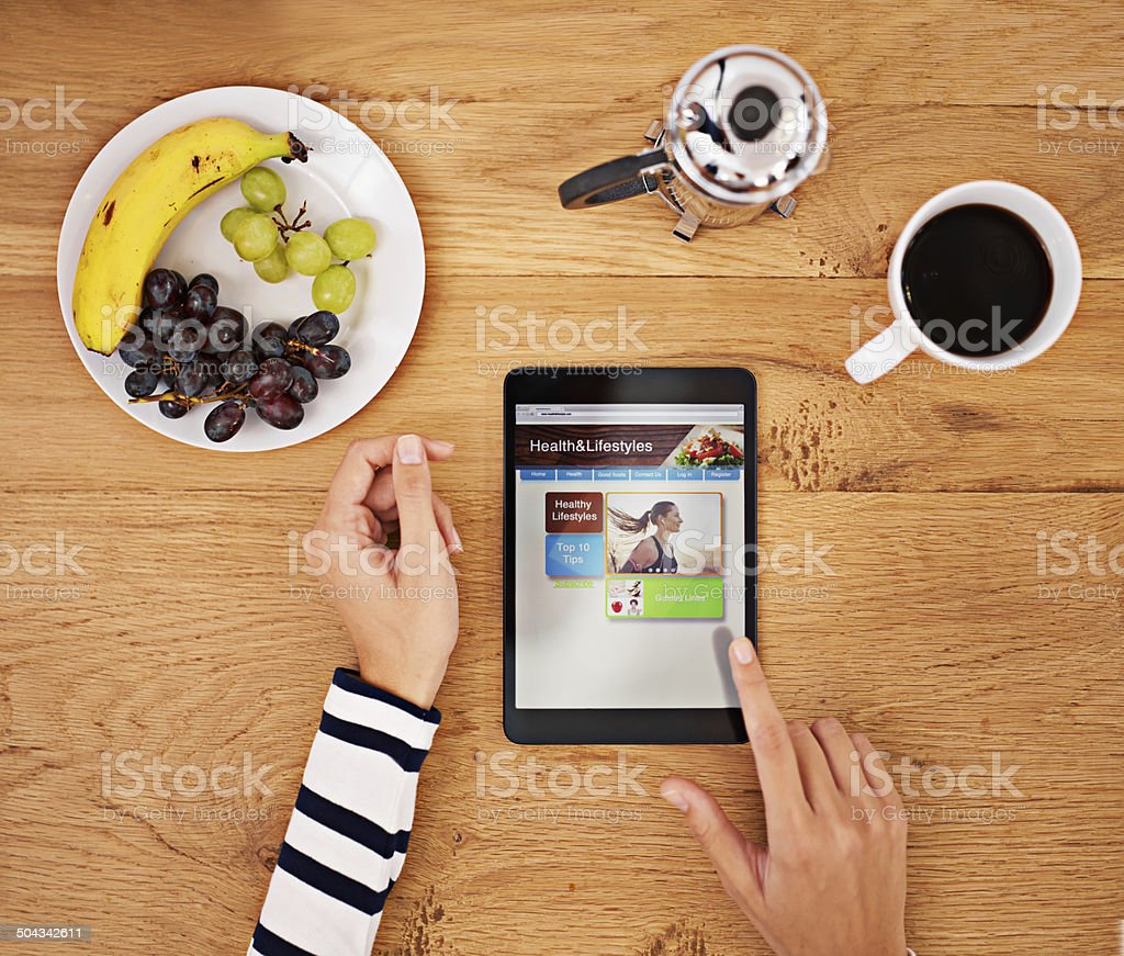 The way to start your day stock photo