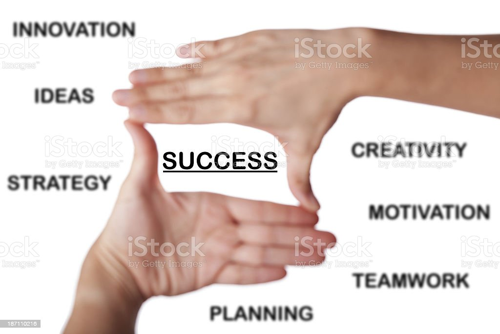 The Way To Success royalty-free stock photo