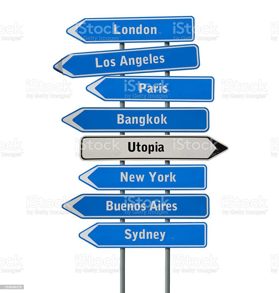 The way to Utopia stock photo