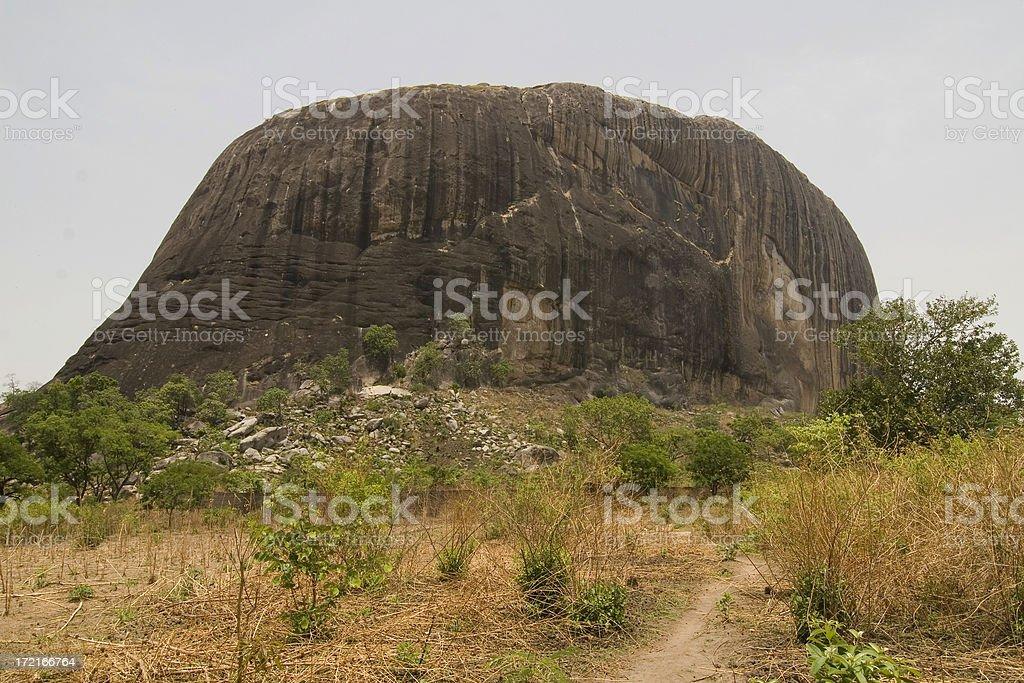 The way to Zuma Rock stock photo