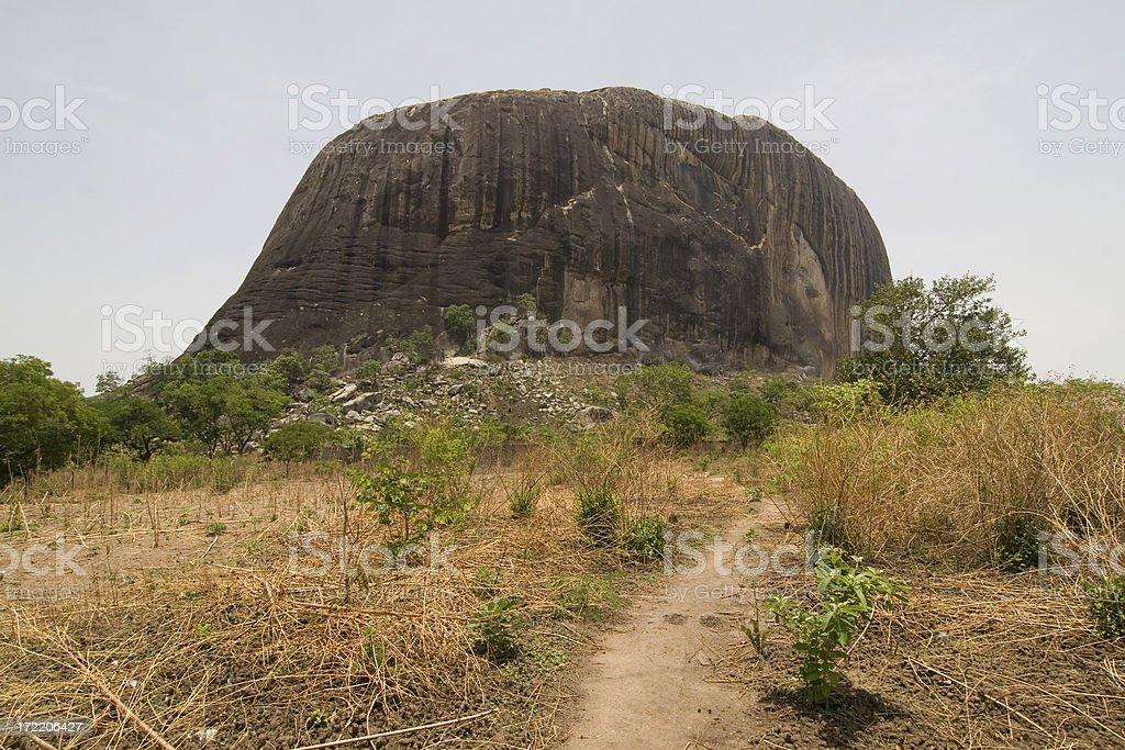 The way to Zuma Rock royalty-free stock photo