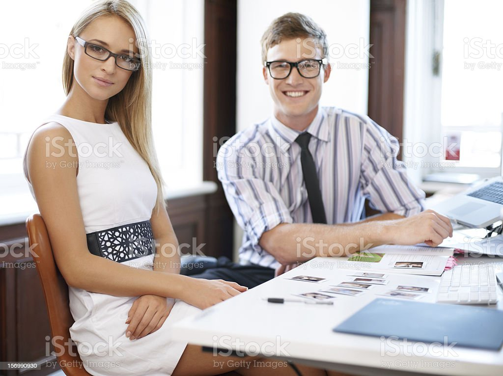 The way we dress reflects our work stock photo