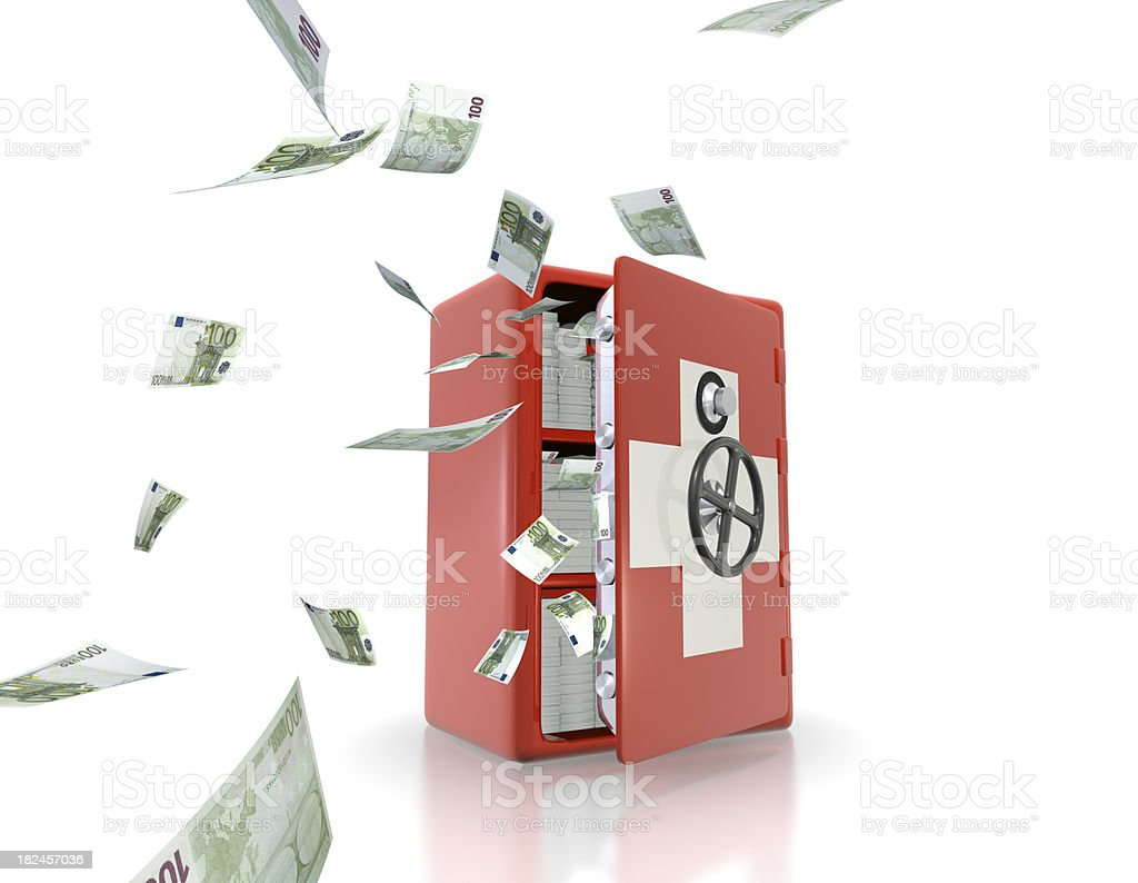 The weakening of Swiss banking secrecy concept royalty-free stock photo