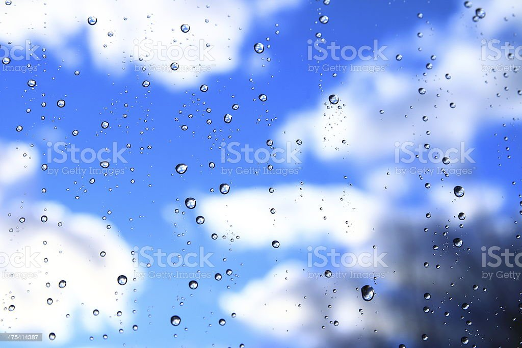 The weather emerges after rain royalty-free stock photo