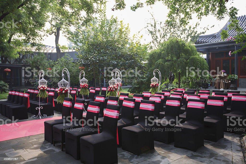 The wedding ceremony site royalty-free stock photo