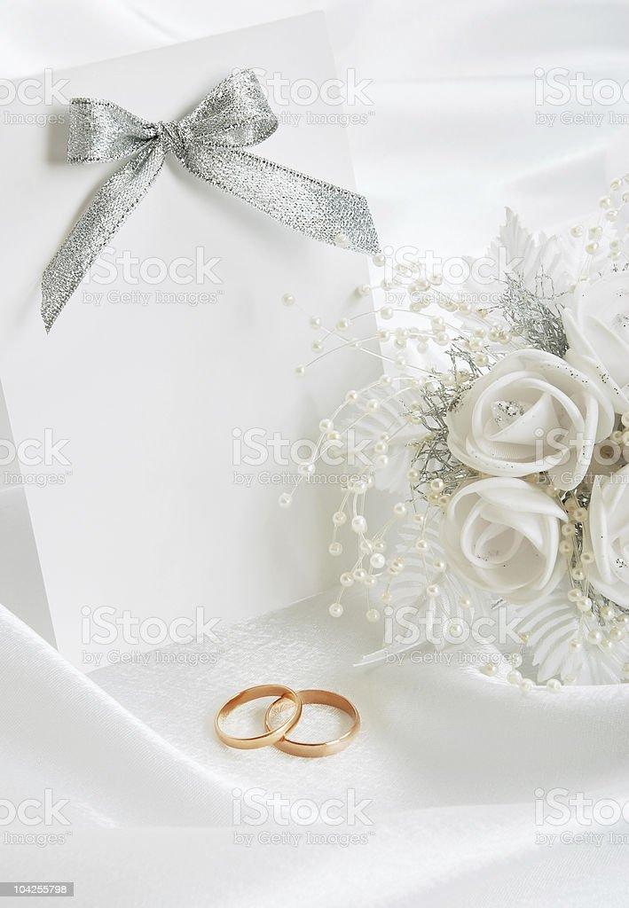 The wedding invitation royalty-free stock photo