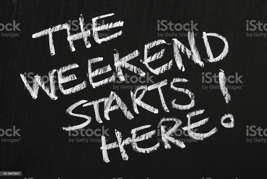 The Weekend stock photo