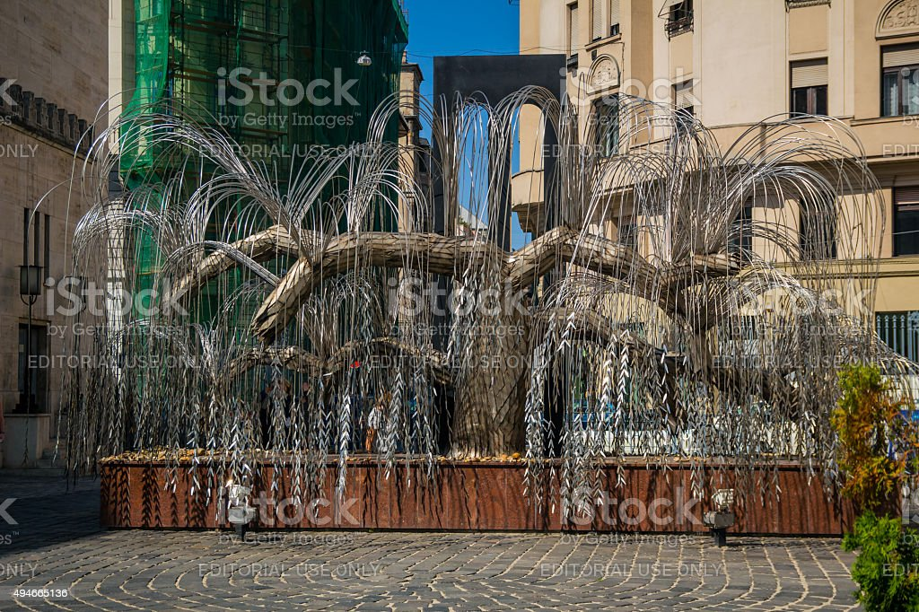 The Weeping Willow Holocaust monument stock photo
