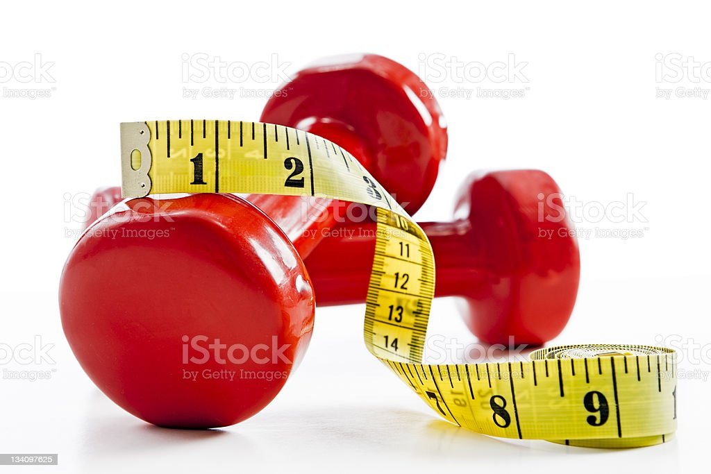 The weighty truth: slimming takes effort! stock photo