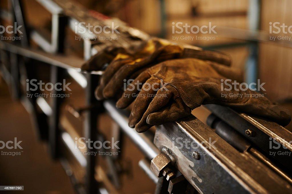 The welder's tools stock photo