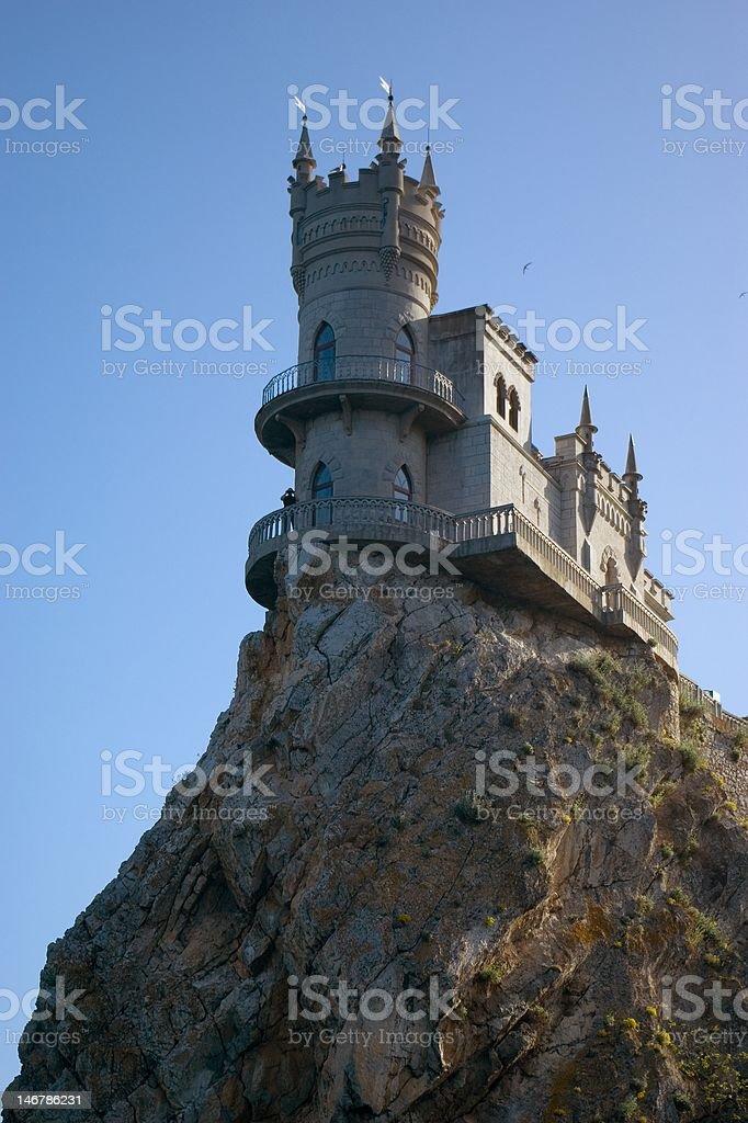 The well-known castle 'Swallow's Nest' near Yalta in Crimea, Ukraine royalty-free stock photo