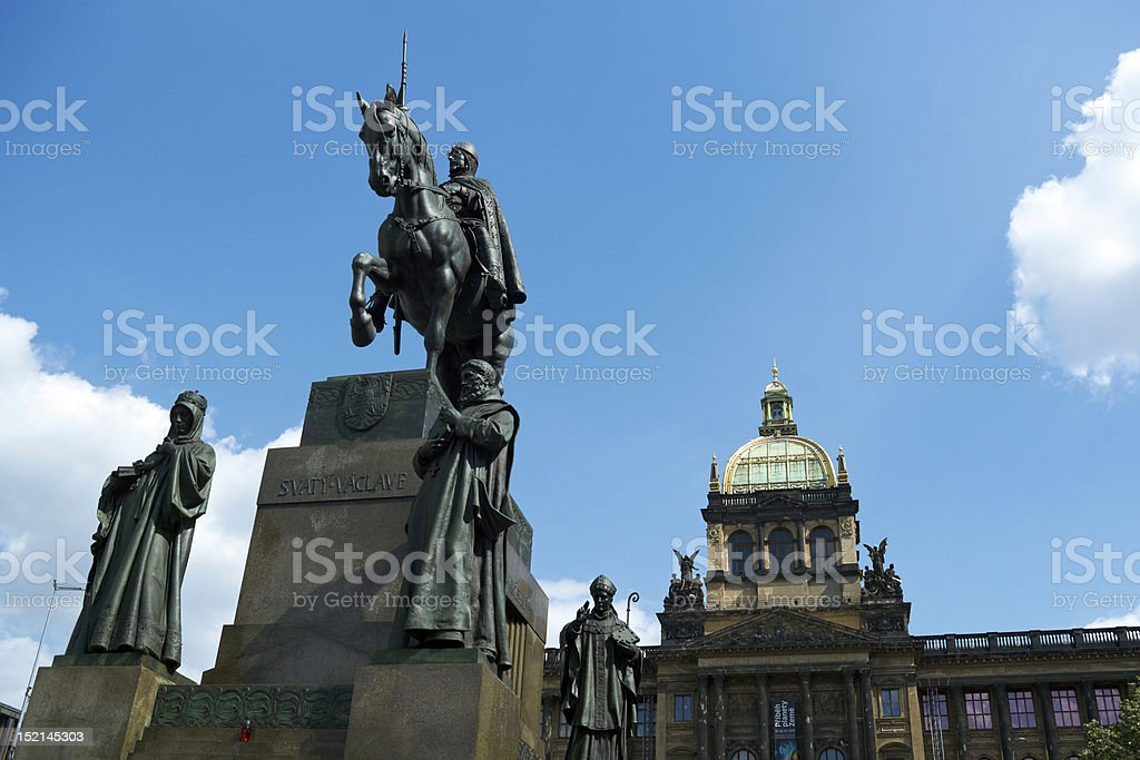The Wenceslas Square, Prague stock photo