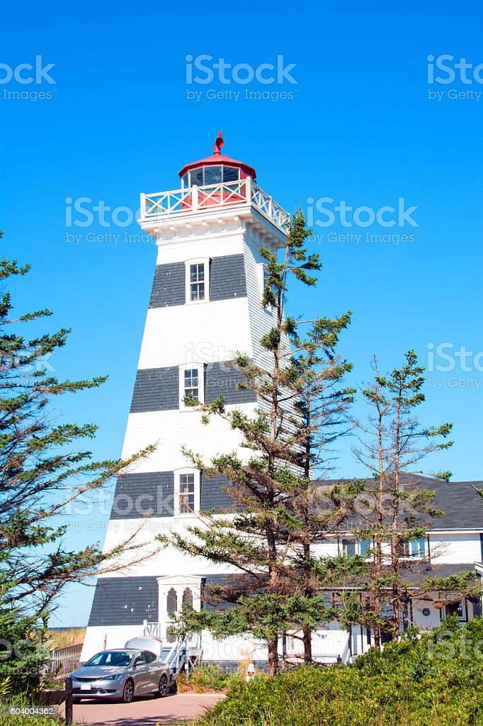 The West Point Lighthouse PEI, Canada stock photo