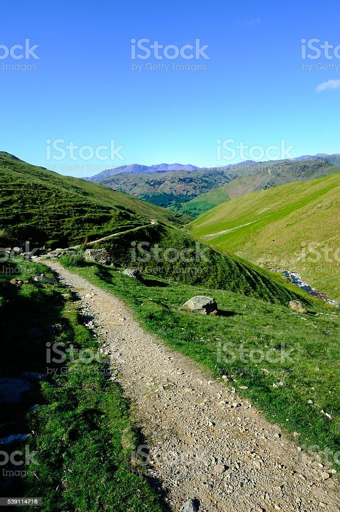 The western fells stock photo
