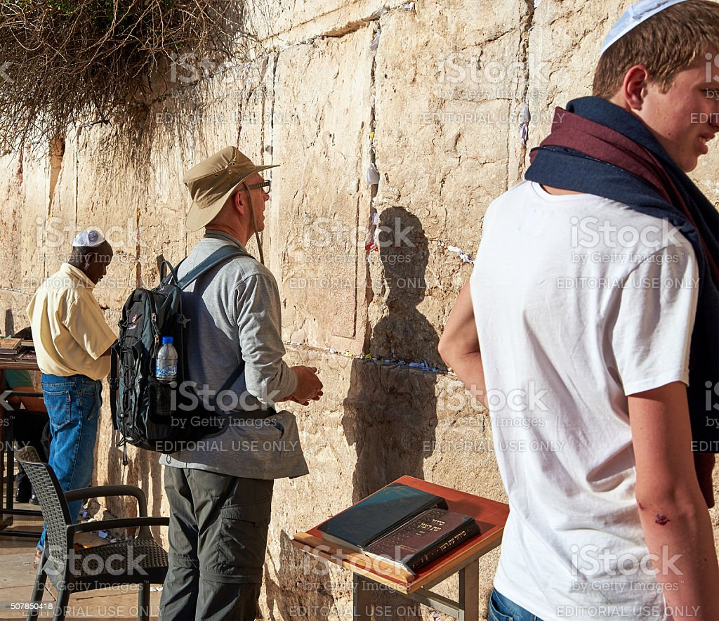 The Western Wall also known as Kotel in Jerusalem stock photo