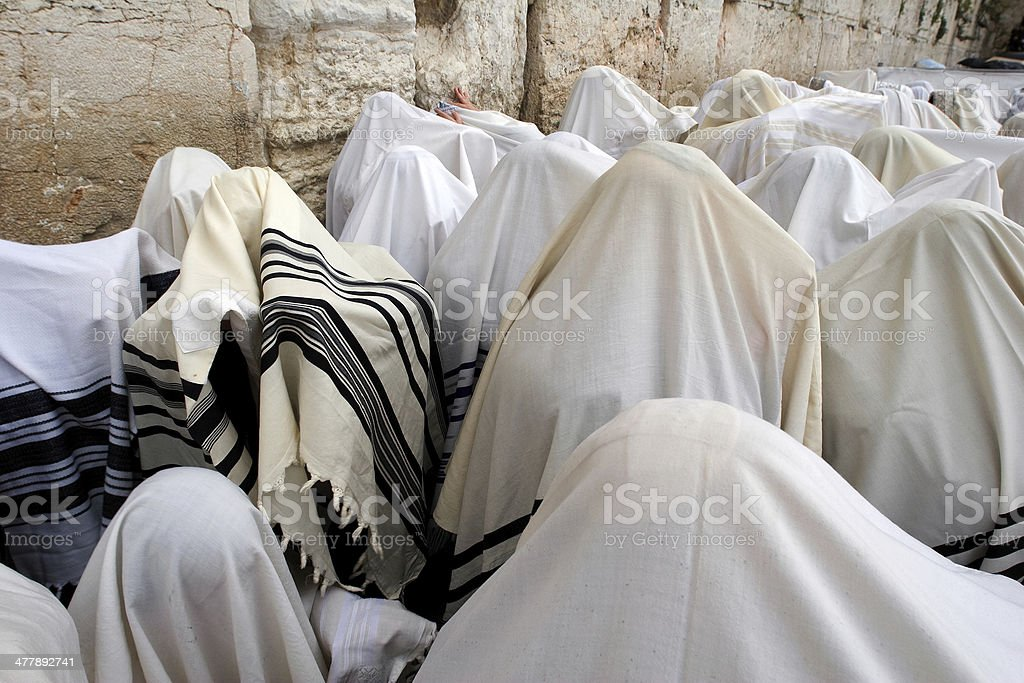 The  western wall in Jerusalem stock photo