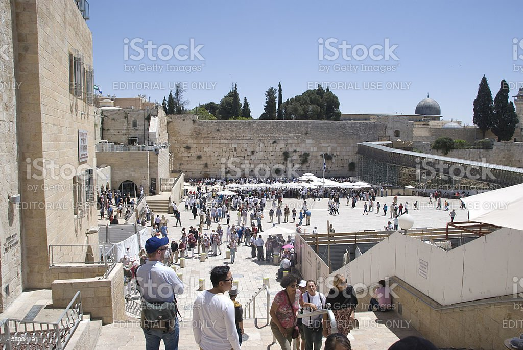 the western wall, jerusalem royalty-free stock photo