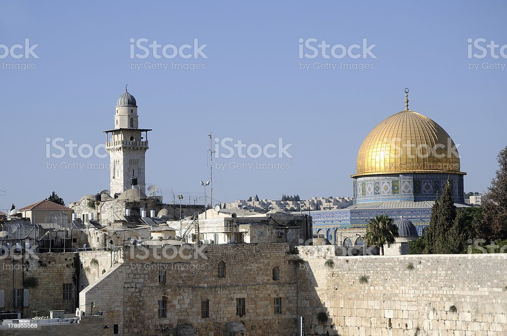 the Western wall royalty-free stock photo