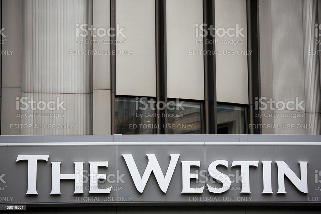 The Westin Hotel, Seattle Washington stock photo