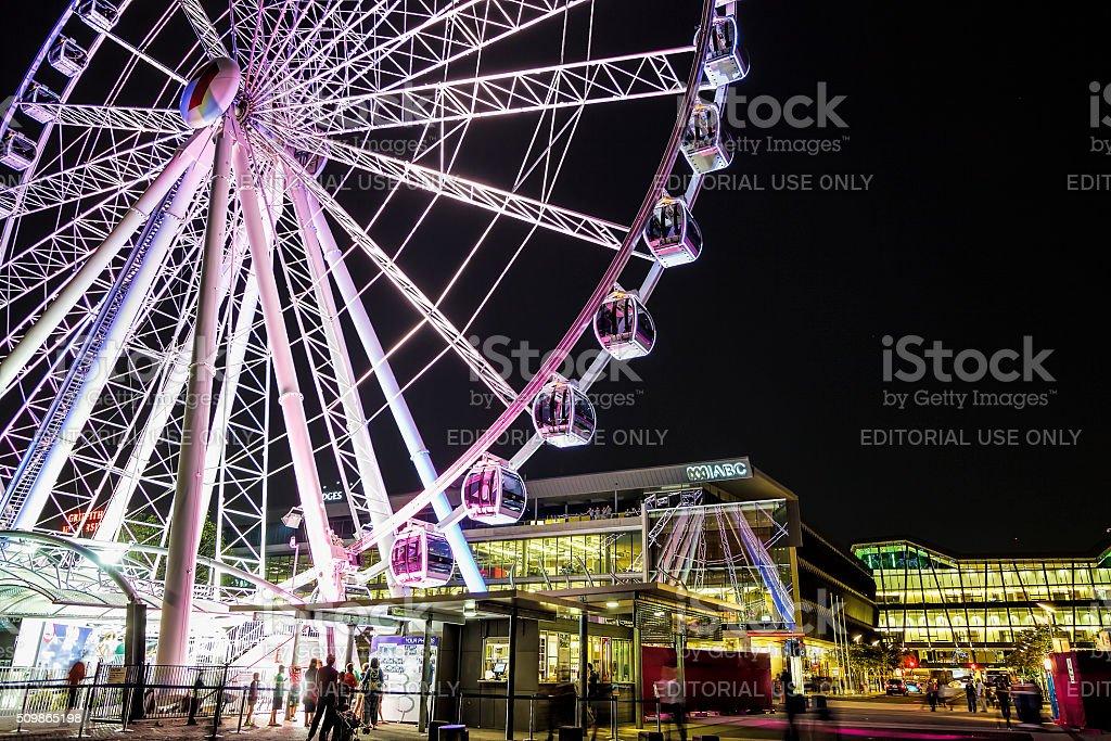 The Wheel of Brisbane, South Bank Parklands stock photo