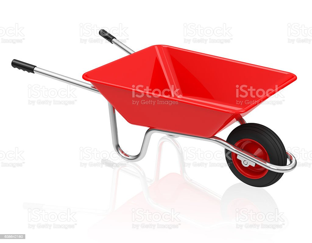 the wheelbarrow stock photo