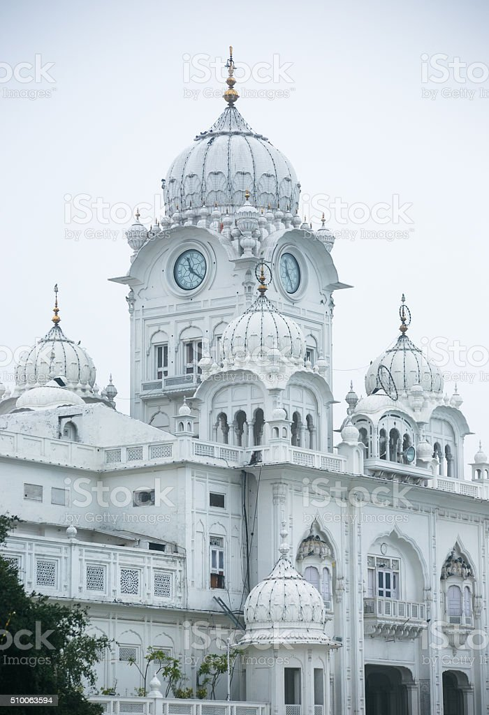 The white building in the golden temple stock photo
