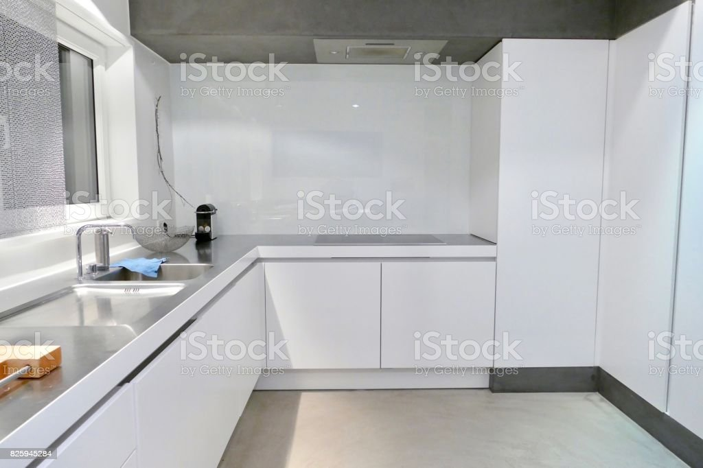 The white clean kitchen stock photo