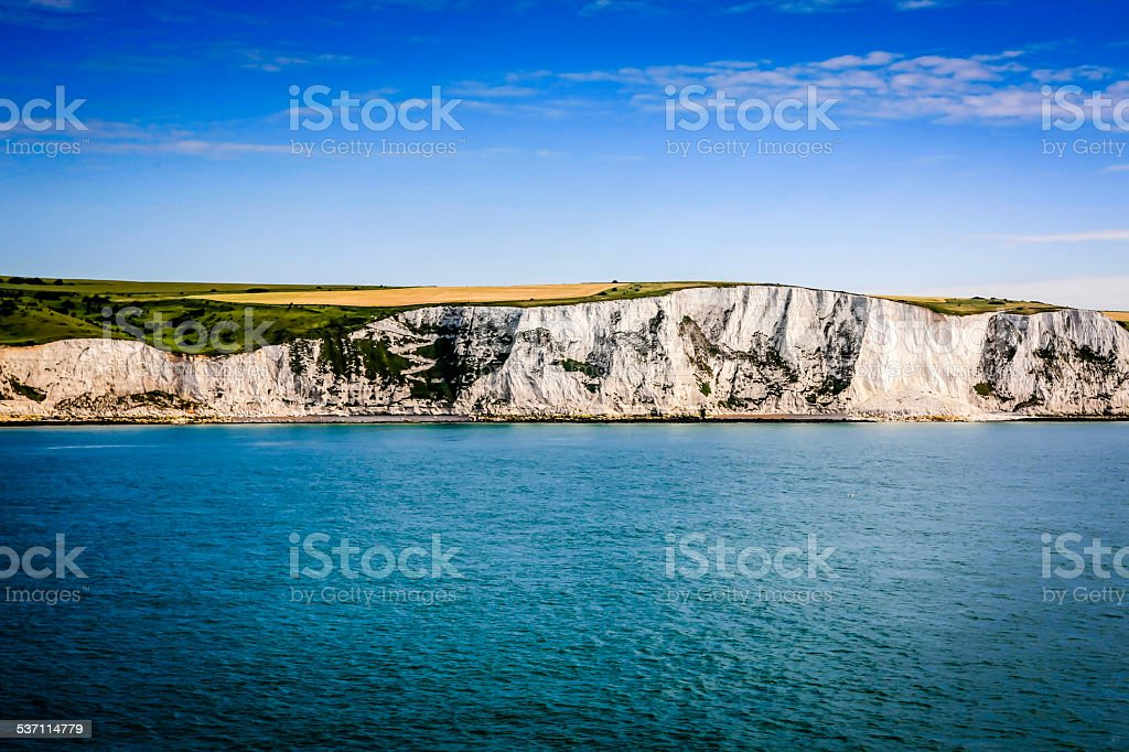 The White Cliffs of Dover in Kent England stock photo