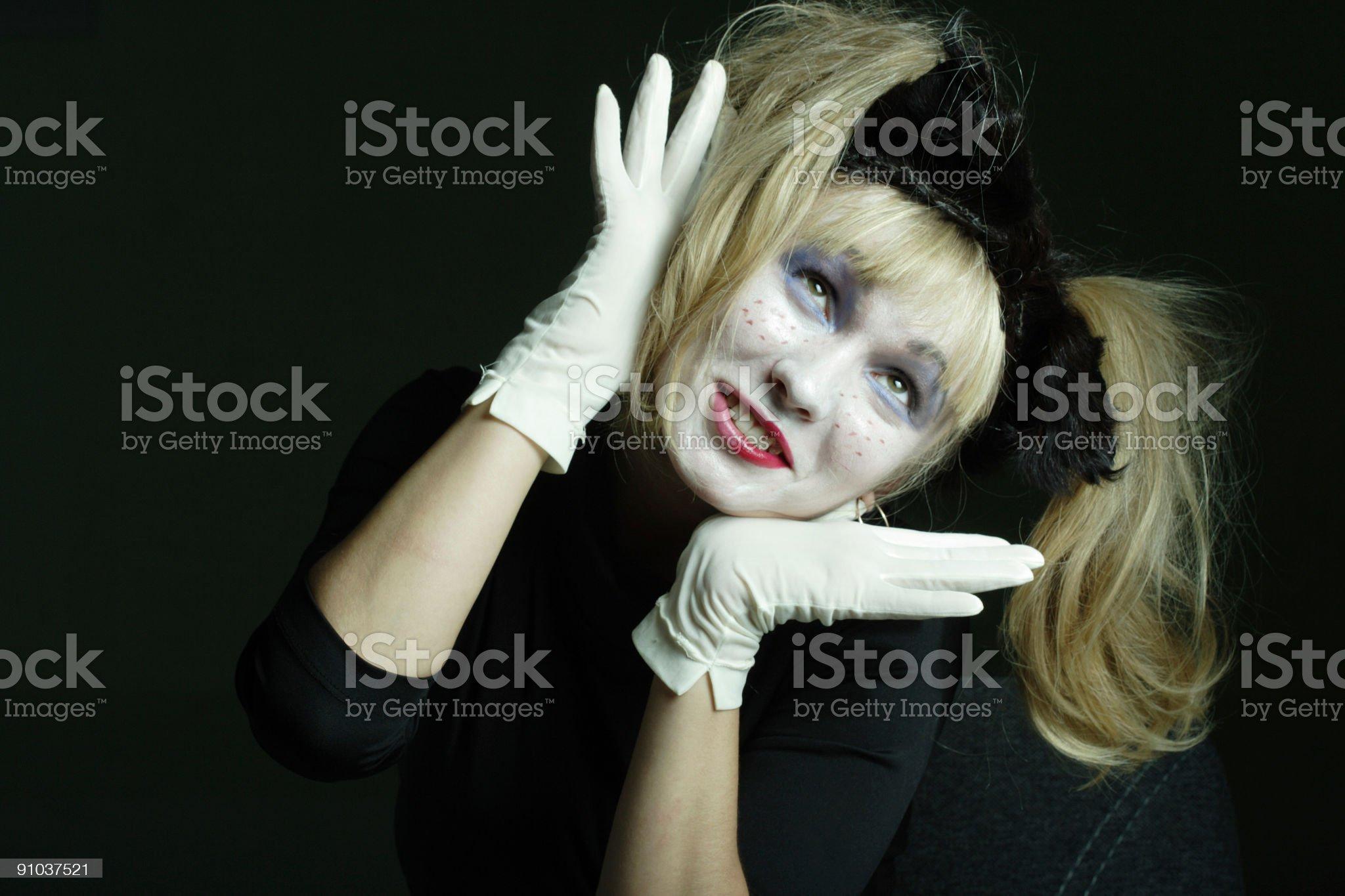 The white clown royalty-free stock photo