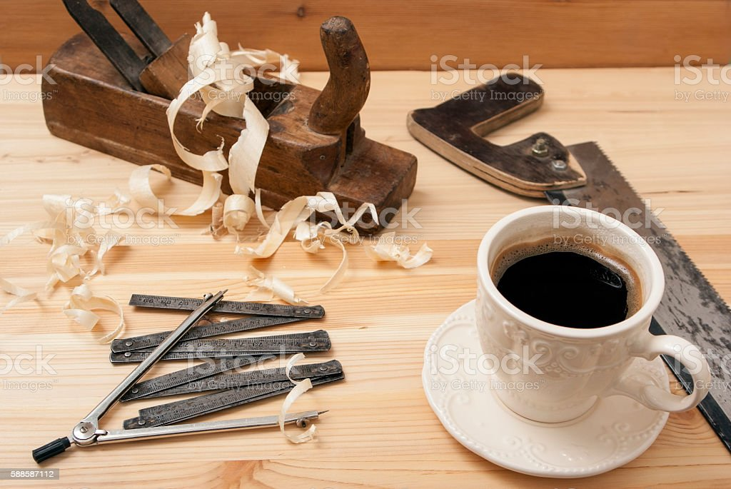 The white cup with coffee royalty-free stock photo