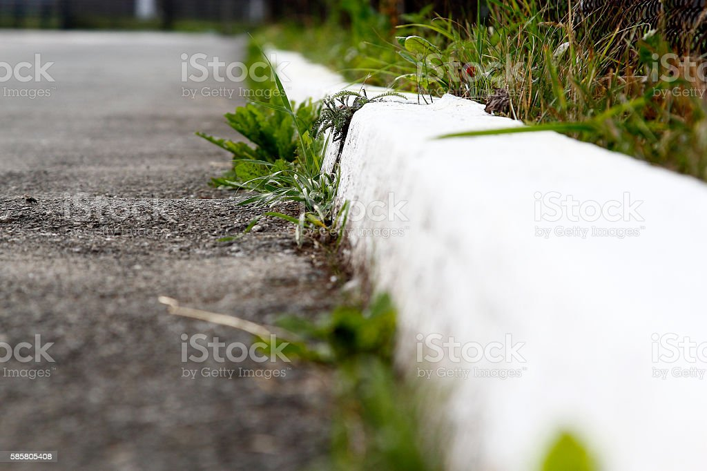 The white curb stock photo