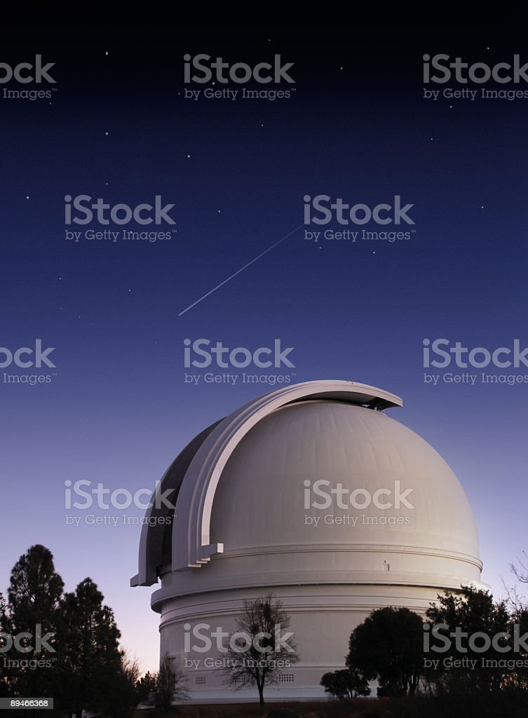 The white dome of a planetary observatory stock photo