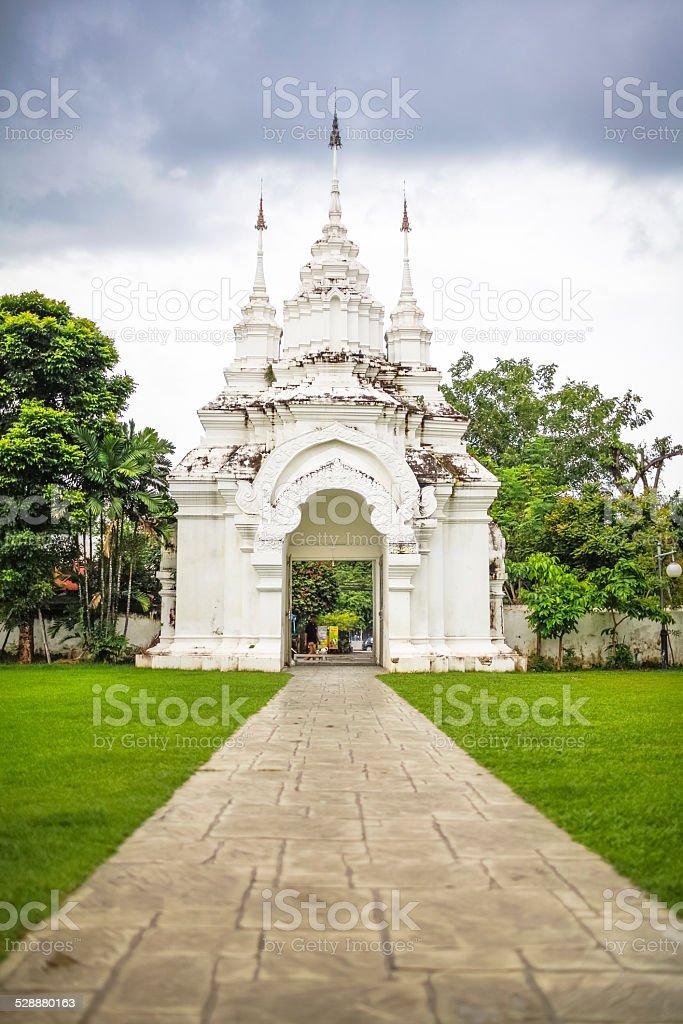 The white gate royalty-free stock photo