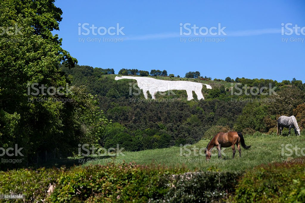The White Horse near Kilburn - Yorkshire - England stock photo