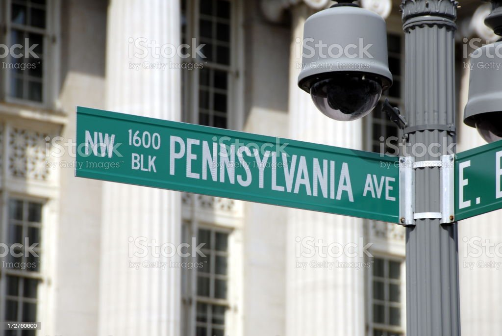 The White House Address: 1600 Pennsylvania Ave royalty-free stock photo