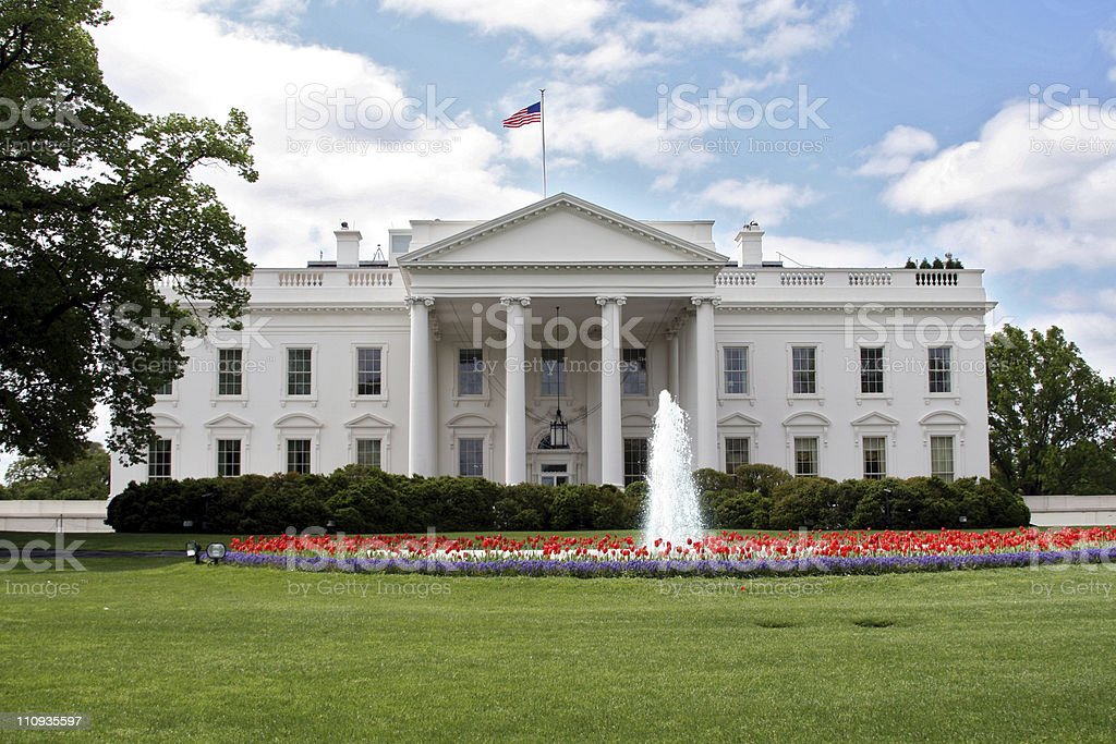 The White House and it's front lawn royalty-free stock photo