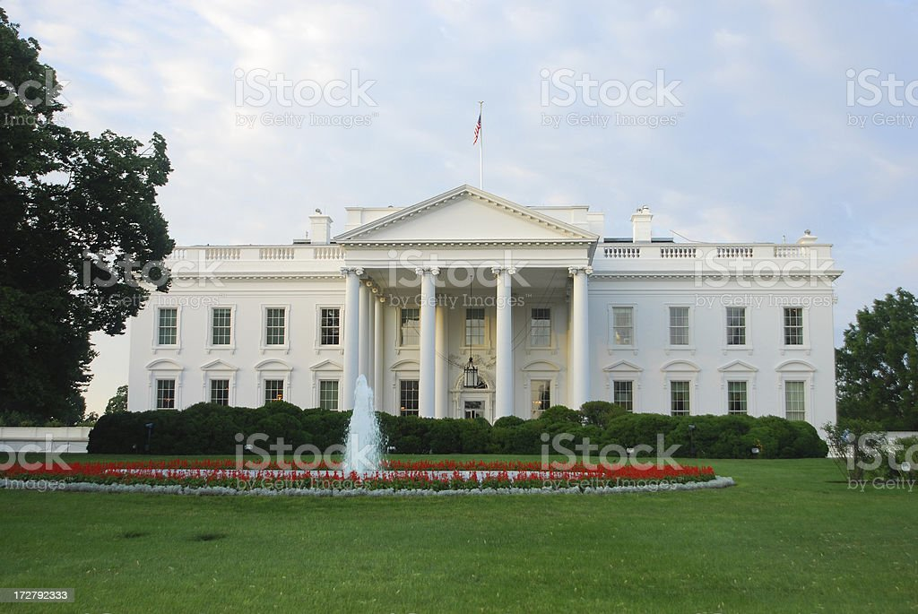 The White House at dawn (North) stock photo