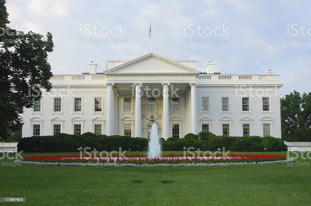 The White House at dawn stock photo