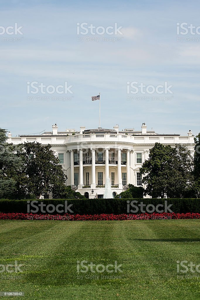 The White House at dawn stock photo