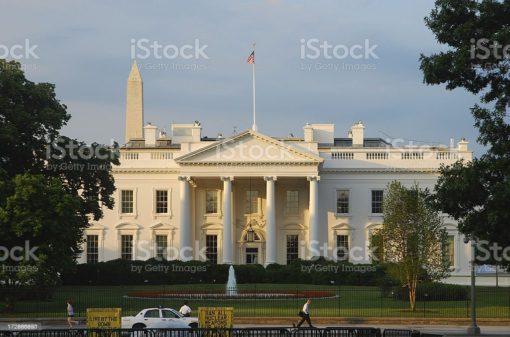 The White House at sunrise (North) royalty-free stock photo