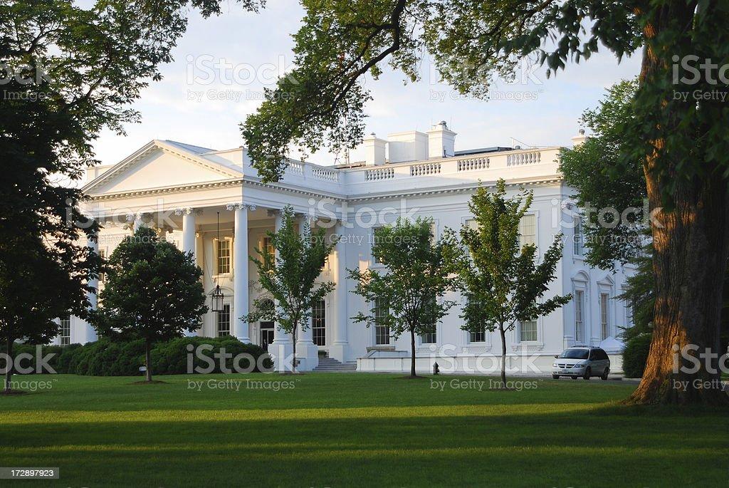 The White House at sunrise stock photo