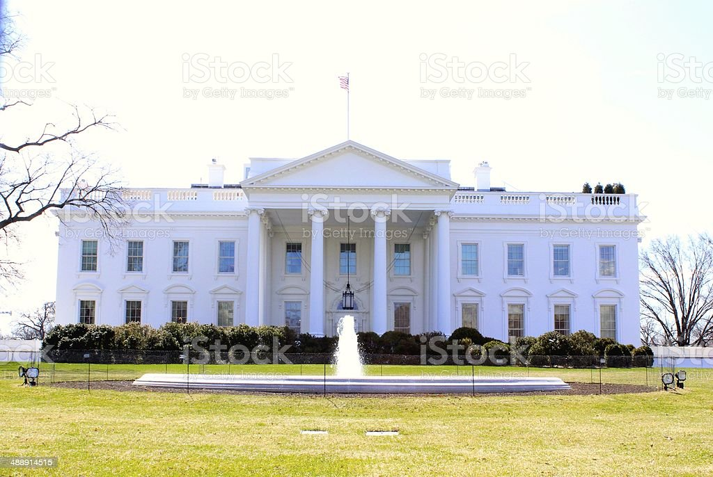 The White House at Washington DC royalty-free stock photo