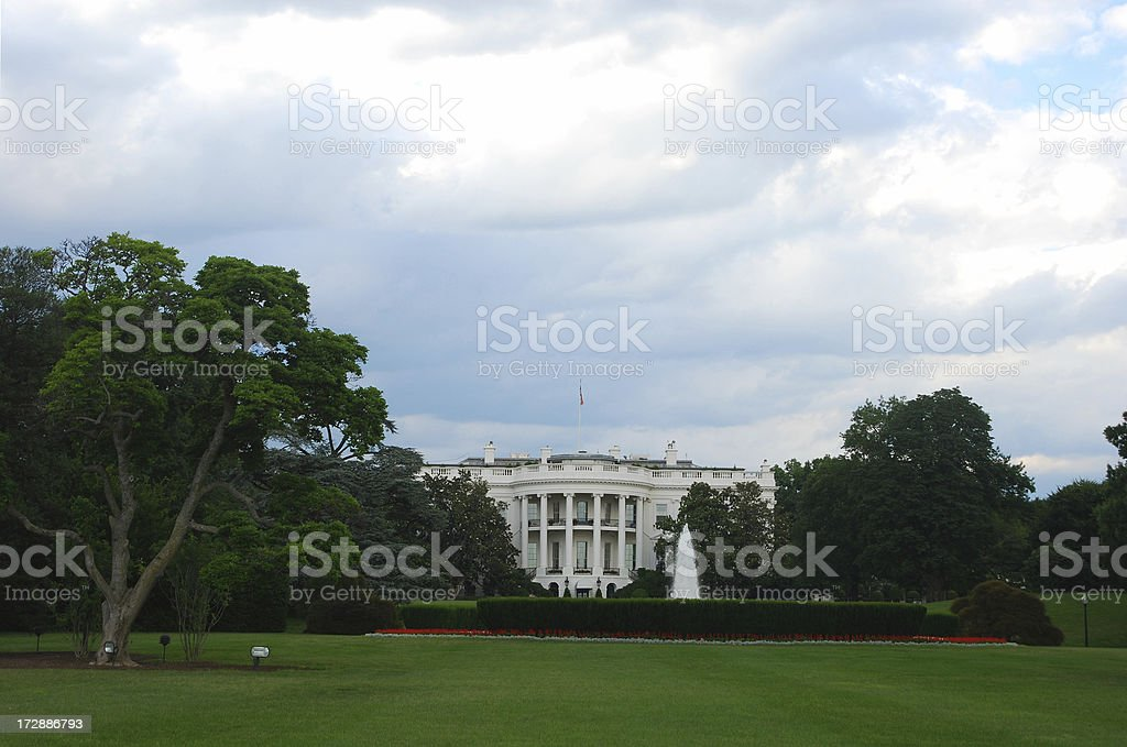 The White House before storm royalty-free stock photo