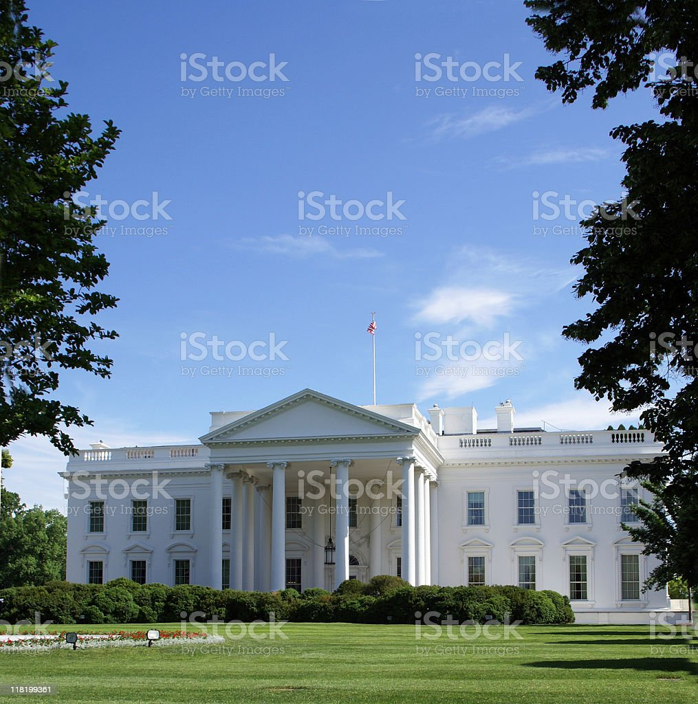 The White House from Pennsylvania Ave royalty-free stock photo