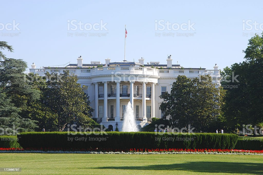 The White House in summer stock photo