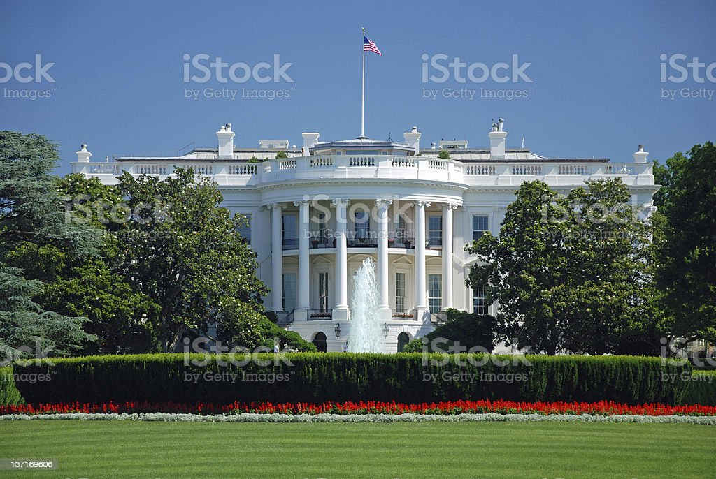 The White House in Washington DC stock photo