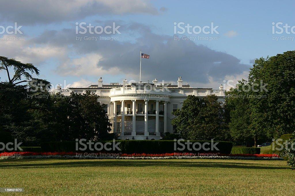 The white house in washington D.C. royalty-free stock photo
