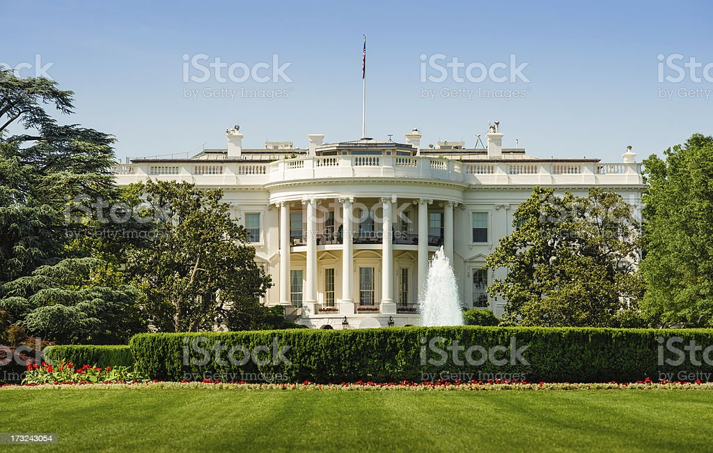 The White House in Washington DC stock photo
